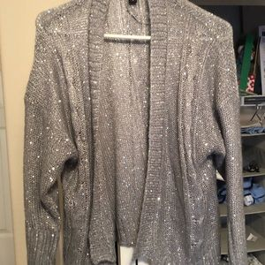 Silver sequined cardigan